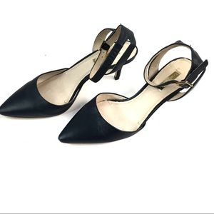 Esperance Ankle-Strap Pointed-Toe Pumps sz 7